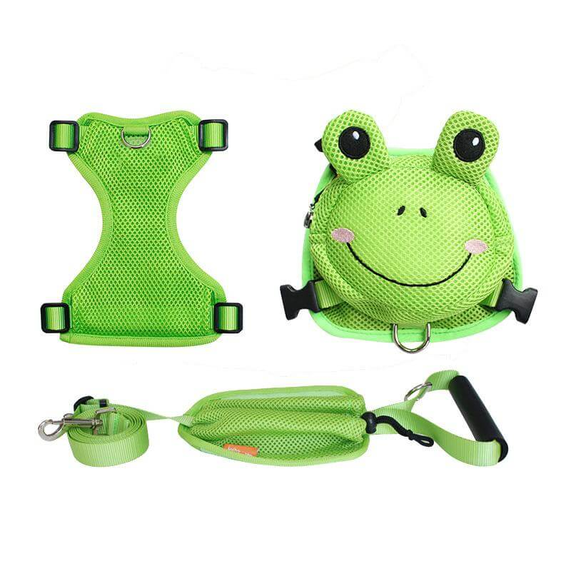 Frog Dog Backpack Harness with Leash
