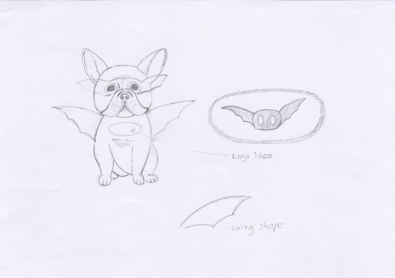 Bat pig dog design