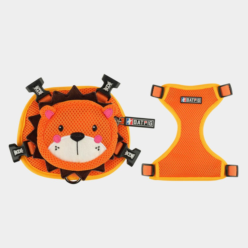BATPIG Backpack Harness Orange Lion