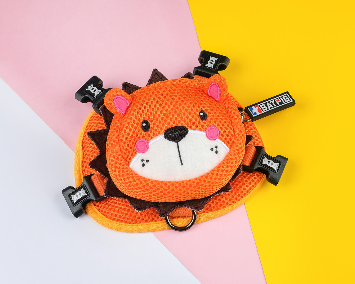 BATPIG Backpack Harness Orange Lion Collection