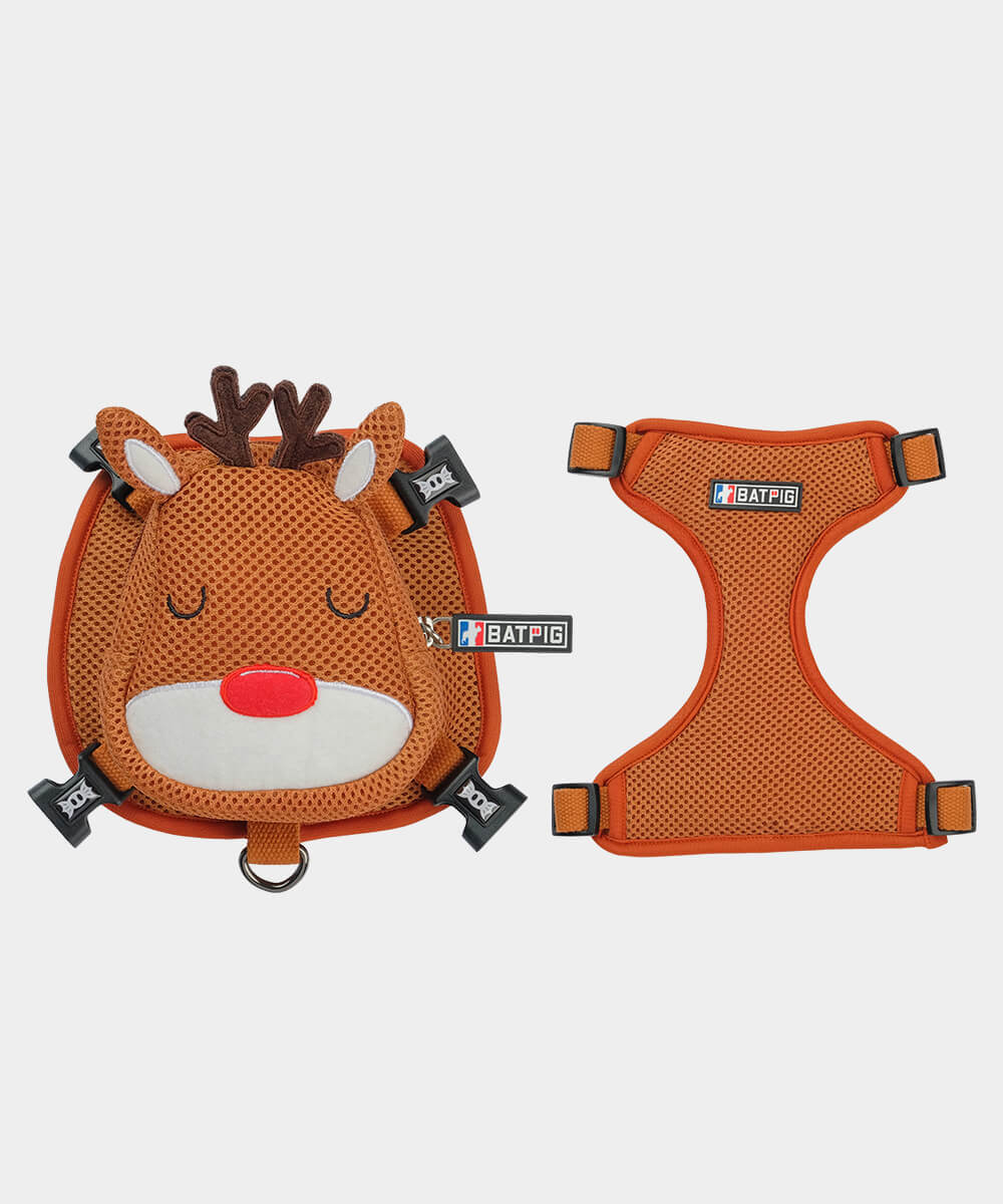 BATPIG Backpack Harness Sleeping Reindeer