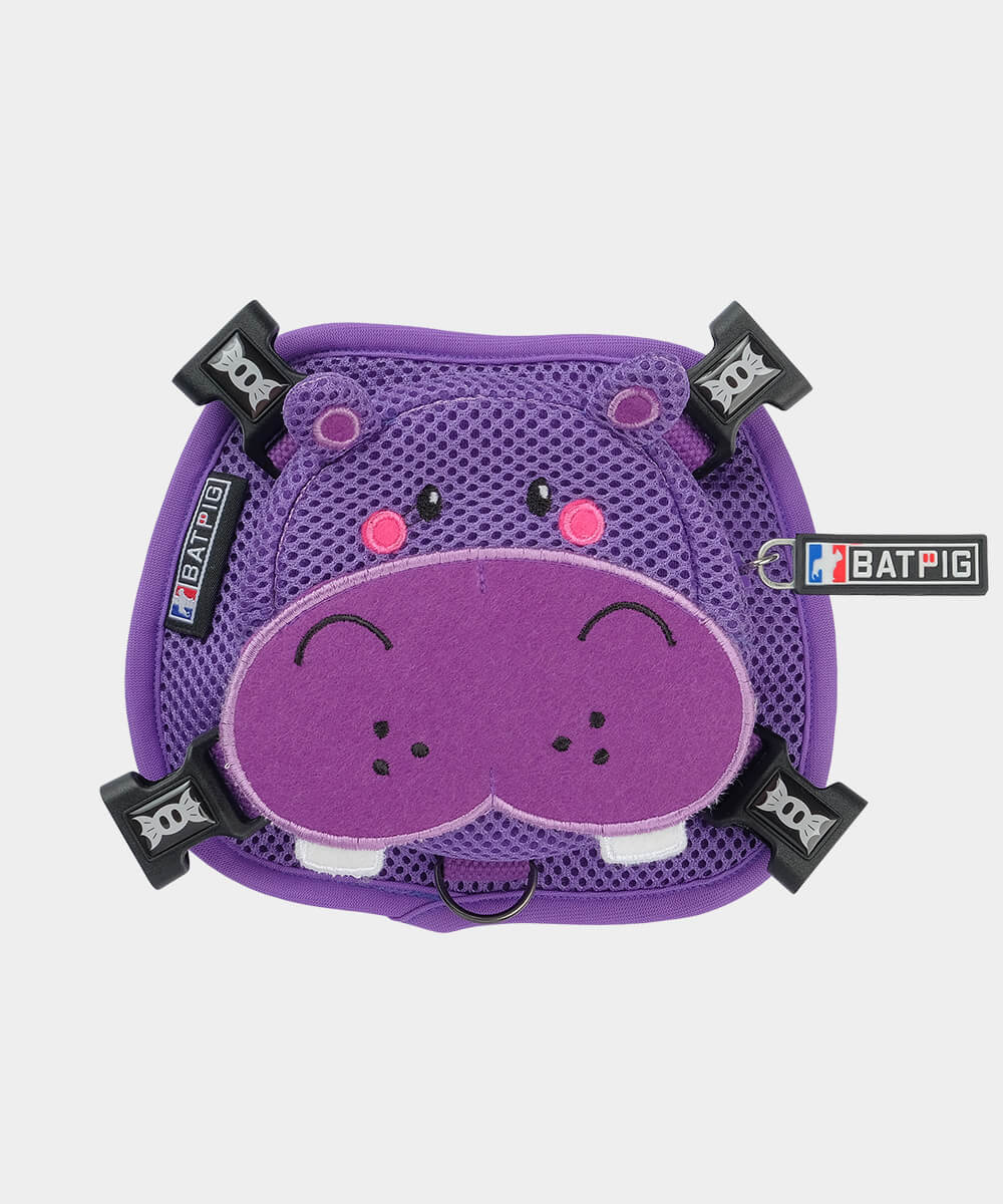BATPIG Backpack Harness Purple Hippo