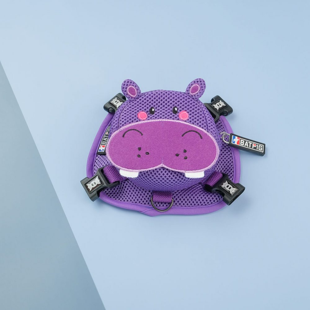 Purple Hippo Backpack Harness by BATPIG Pet Supply
